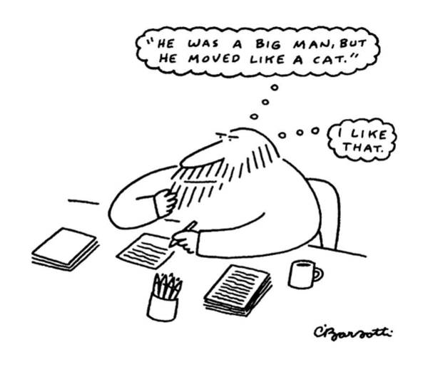Writing Desk Drawing - New Yorker March 17th, 1986 by Charles Barsotti