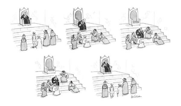 Laughter Drawing - New Yorker March 17th, 1986 by Leo Cullum