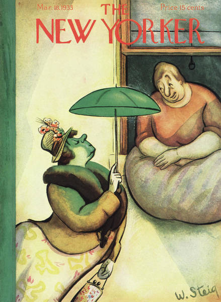 Fashion Painting - New Yorker March 18th, 1933 by William Steig