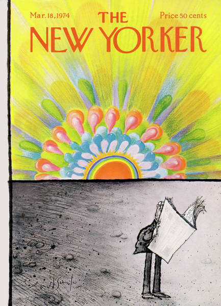 Changing Painting - New Yorker March 18th, 1974 by Ronald Searle