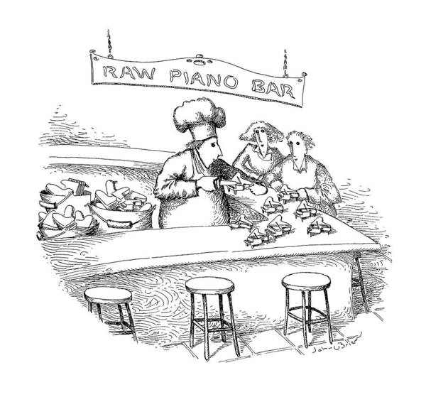 Oyster Bar Wall Art - Drawing - New Yorker March 18th, 1991 by John O'Brien