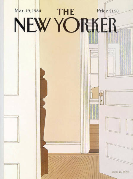 Household Painting - New Yorker March 19th, 1984 by Gretchen Dow Simpson