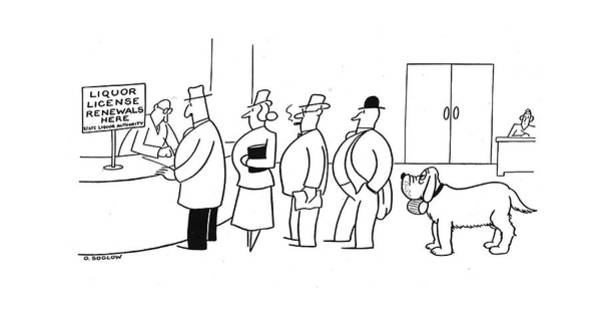 Pet Store Drawing - New Yorker March 1st, 1941 by Otto Soglow