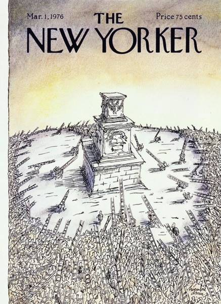 1 Painting - New Yorker March 1st 1976 by Niculae Asciu
