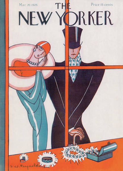 Magazine Painting - New Yorker March 20th, 1926 by Stanley W Reynolds