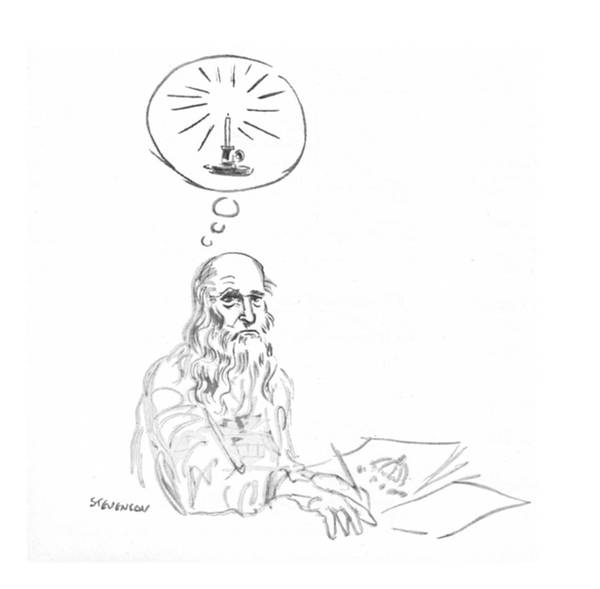 Bulb Drawing - New Yorker March 20th, 1971 by James Stevenson