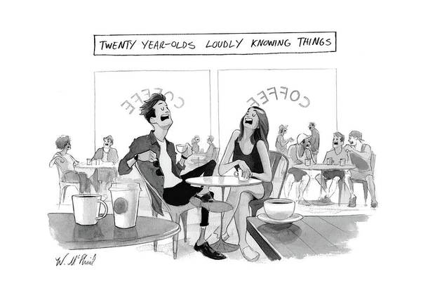 2017 Drawing - New Yorker March 20th, 2017 by Will McPhail