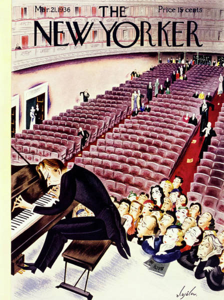 Nobody Painting - New Yorker March 21 1936 by Constantin Alajalov