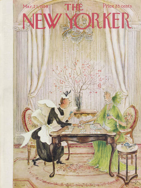 Wealth Painting - New Yorker March 21st, 1959 by Mary Petty