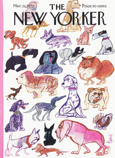 Animal Painting - New Yorker March 21st, 1970 by Kenneth Mahood