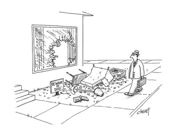 House Pet Drawing - New Yorker March 21st, 1988 by Tom Cheney
