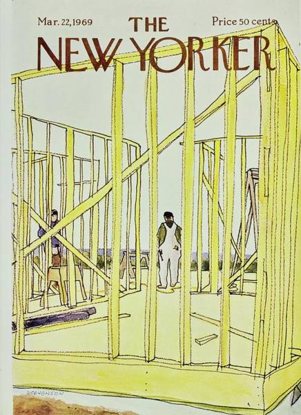 New Yorker March 22nd 1969 Art Print by James Stevenson