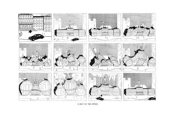 Manhattan Drawing - New Yorker March 23rd, 1940 by Alfred Frueh