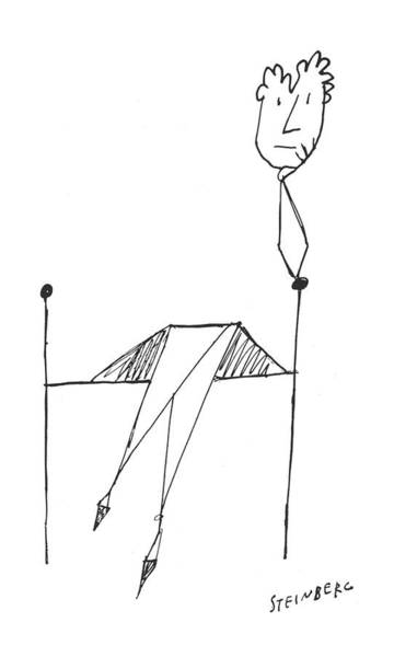 Sculpture Drawing - New Yorker March 23rd, 1957 by Saul Steinberg