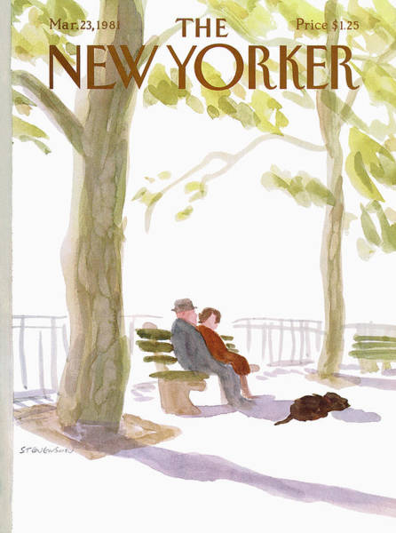 Marriage Painting - New Yorker March 23rd, 1981 by James Stevenson