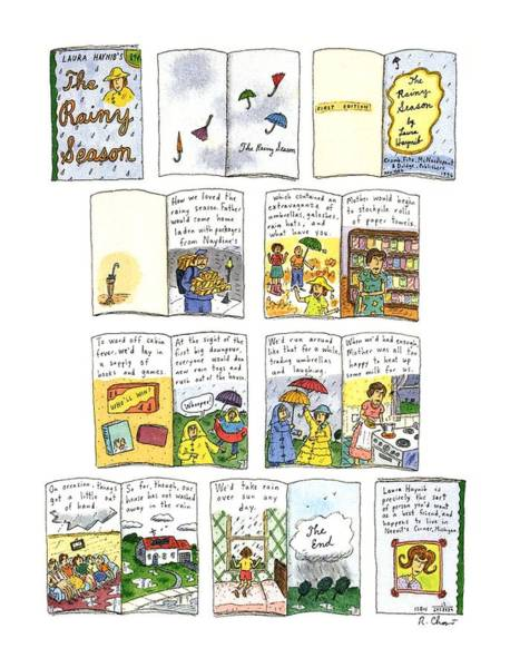 Rain Drawing - New Yorker March 23rd, 1992 by Roz Chast