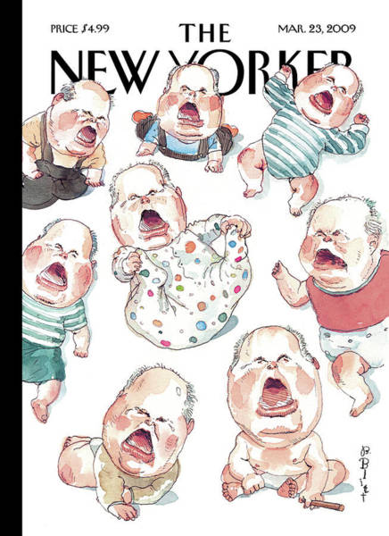 Baby Painting - New Yorker March 23rd, 2009 by Barry Blitt