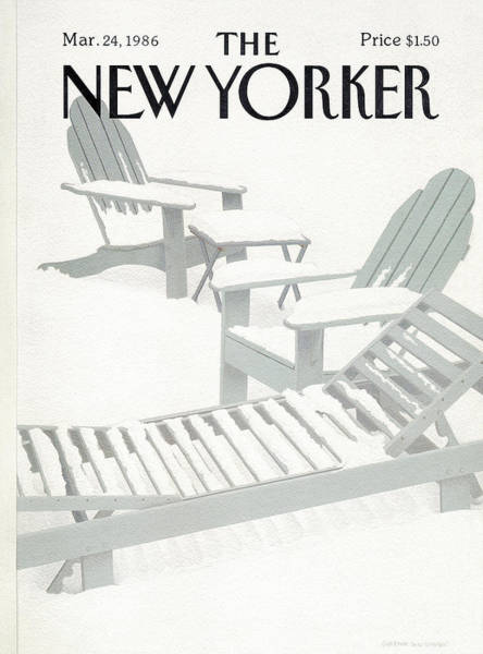 Furniture Painting - New Yorker March 24th, 1986 by Gretchen Dow Simpson