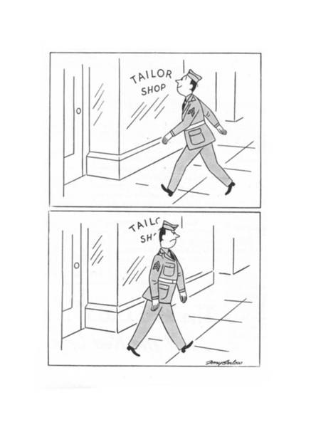 Duty Drawing - New Yorker March 25th, 1944 by M. K. Barlow