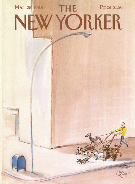 Pet Painting - New Yorker March 25th, 1985 by Paul Degen