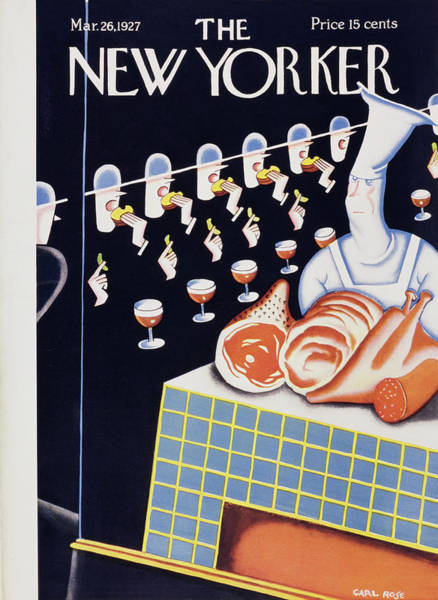 Restaurant Painting - New Yorker March 26 1927 by Carl Rose
