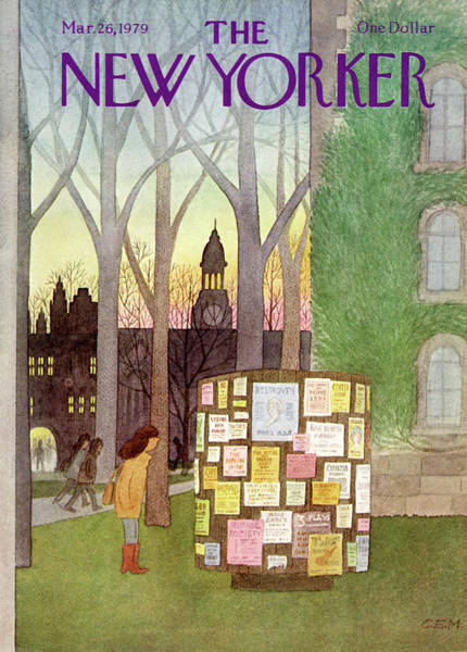 Outdoor Painting - New Yorker March 26th, 1979 by Charles E Martin
