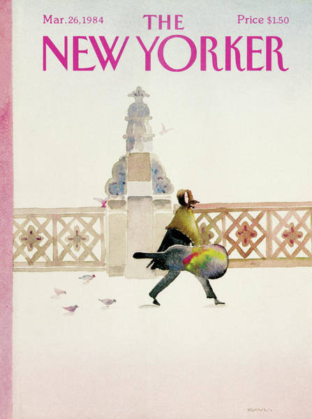 Walking Painting - New Yorker March 26th, 1984 by Susan Davis
