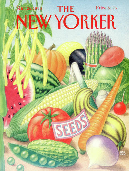 Vegetables Painting - New Yorker March 26th, 1990 by Bob Knox
