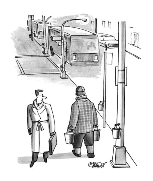 Maple Drawing - New Yorker March 26th, 1990 by Peter Steiner