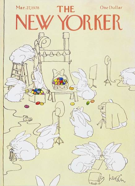 Wall Art - Painting - New Yorker March 27th 1978 by Arnie Levin