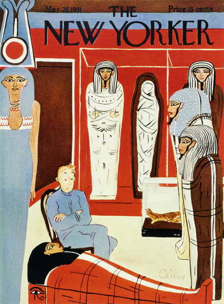 History Painting - New Yorker March 28 1931 by Ruth Cairns