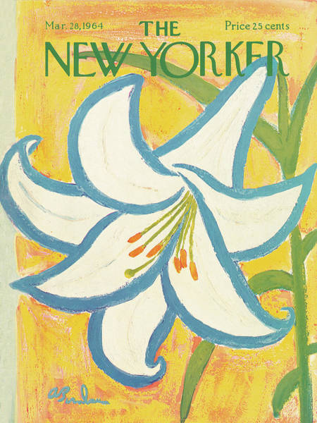 Flower Petals Painting - New Yorker March 28th, 1964 by Abe Birnbaum