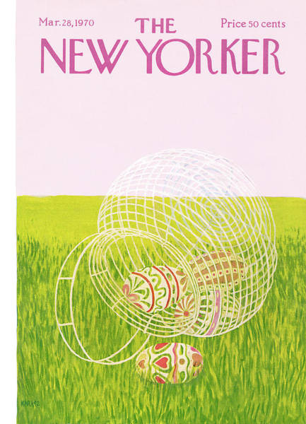 Ilonka Painting - New Yorker March 28th, 1970 by Ilonka Karasz