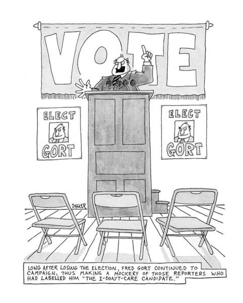 Wall Art - Drawing - New Yorker March 28th, 1977 by Jack Ziegler