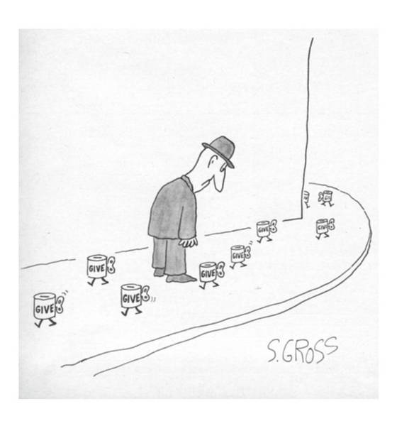 Drawing - New Yorker March 28th, 1977 by Sam Gross