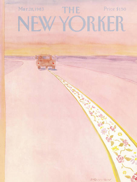 Spring Painting - New Yorker March 28th, 1983 by James Stevenson