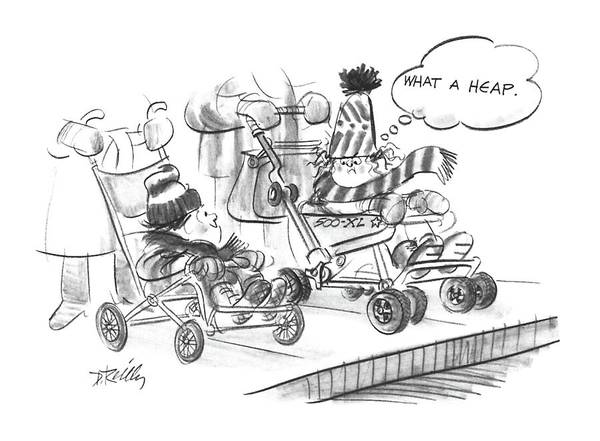Transport Drawing - New Yorker March 28th, 1988 by Donald Reilly