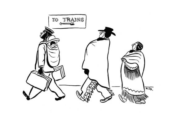 Tribe Drawing - New Yorker March 29th, 1941 by Robert J. Day