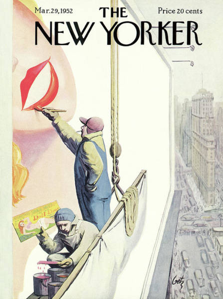Manhattan Painting - New Yorker March 29th, 1952 by Arthur Getz