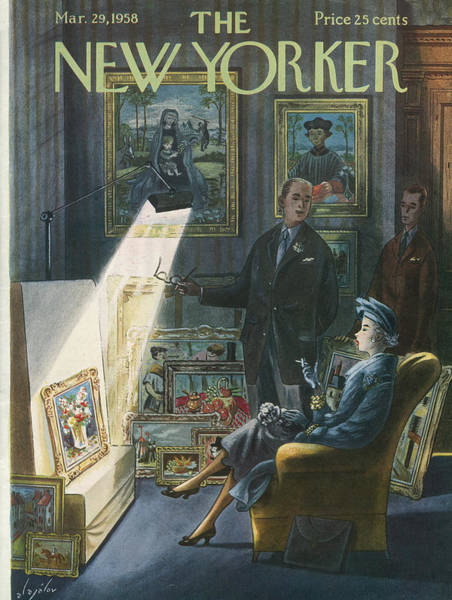 1958 Painting - New Yorker March 29th, 1958 by Constantin Alajalov