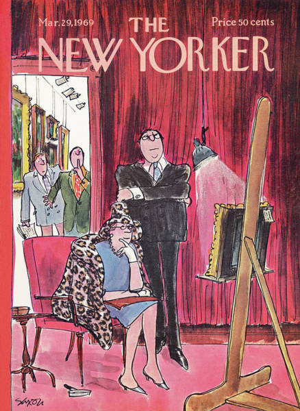Painting - New Yorker March 29th, 1969 by Charles Saxon