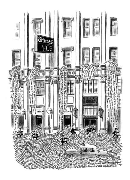 Manhattan Drawing - New Yorker March 29th, 1969 by Robert J. Day