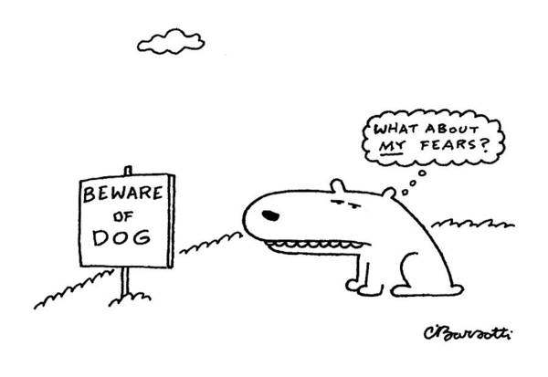 Self Image Drawing - New Yorker March 29th, 1999 by Charles Barsotti