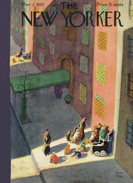 Painting - New Yorker March 2nd, 1935 by Robert J. Day