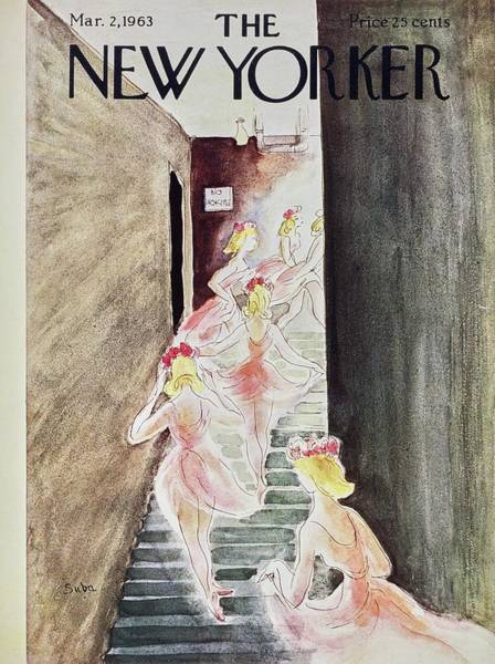 Pink Painting - New Yorker March 2nd 1963 by Susanne Suba