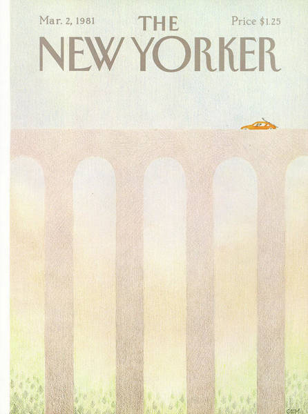 Travel Painting - New Yorker March 2nd, 1981 by Charles E Martin