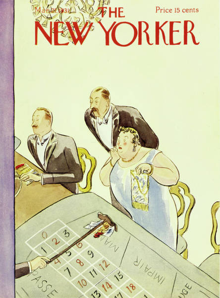 Magazine Cover Painting - New Yorker March 3 1931 by Helene E. Hokinson