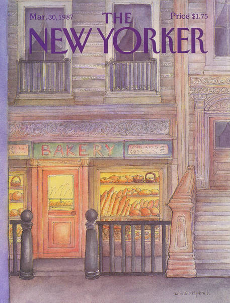 Storefront Painting - New Yorker March 30th, 1987 by Iris VanRynbach