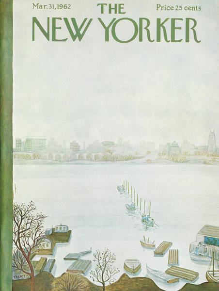 Nautical Painting - New Yorker March 31st, 1962 by Ilonka Karasz