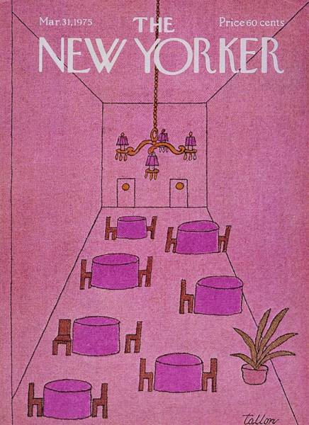 Restaurant Painting - New Yorker March 31st 1975 by Robert Tallon